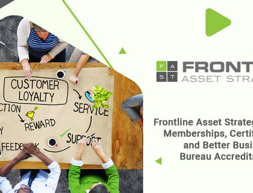 Frontline Asset Strategies Values Memberships, Certifications, and Better Business Bureau Accreditation
